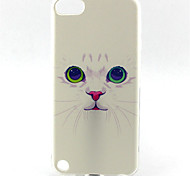 Cat Painting Pattern TPU Soft Case for iPod Touch 5