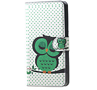 Sleeping Owl on the Branch Pattern Magnetic PU Leather Stand Cover Case with Card Slots for Huawei Y5 Y560
