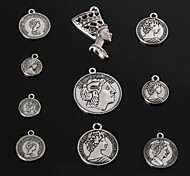 Charms / Pendants Metal Round Shape As Picture 3-18pcs