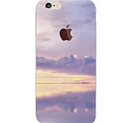 Недорогие -Кейс для Назначение Apple iPhone 6 iPhone 6 Plus С узором Кейс на заднюю панель Цвет неба Пейзаж Мягкий ТПУ для iPhone 6s Plus iPhone 6s