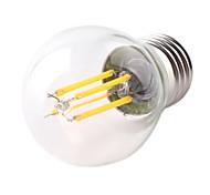cheap -1pc 4W E26/E27 LED Filament Bulbs G45 4 High Power LED 360lm Warm White Cold White Decorative AC220-240V