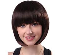 жен. Парики из искусственных волос Без шапочки-основы Прямые Естественные прямые Черный Карнавальные парики