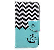 cheap -Case For Samsung Galaxy Samsung Galaxy Case Card Holder Wallet with Stand Flip Pattern Full Body Cases Lines / Waves PU Leather for J7 J5