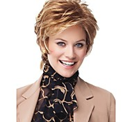 cheap -Synthetic Wig Wavy Blonde Women's Capless Short Synthetic Hair