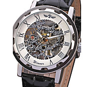 WINNER® Men's Watch Mechanical Skeleton Hollow Engraving Cool Watch Unique Watch