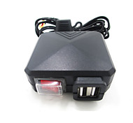 Black Motorcycle Car Dual USB Charger with Switch Mirror Mount  12v-24v Power Adapter Charging for ATV Boat Dirt Bike