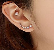 Women's Stud Earrings Fashion Luxury Costume Jewelry Rhinestone Imitation Diamond Alloy Star Jewelry For Wedding Party Daily Casual