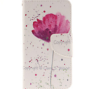 Pink Flower Pattern PU Leather Full Body Cover with Stand for Sony Xperia Z5 Compact