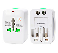 Whirldy All in One International Adaptor Universal World Wide Travel Charger Adapter Plug, White
