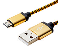 cheap -1M 3.28ft Aluminum+PVC USB2.0 Data Cable for Samsung Mobile Phone
