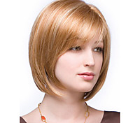 Color Mixture Synthetic Medium Wig To European Women Lady Cheapest Price Extensions
