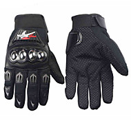cheap -PRO-BIKER Professional Skid-Proof Full Finger Stainless Steel Motorcycle Racing Gloves