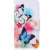 бабочка шаблон PU кожаный материал флип карты для Samsung Galaxy записку 5/4/3