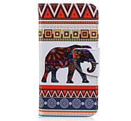 cheap -Case For Samsung Galaxy Samsung Galaxy Case Card Holder Wallet with Stand Flip Pattern Full Body Cases Elephant PU Leather for J7 J5 J3