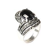 Недорогие -Кольца Мода Для вечеринок Бижутерия Резина / Серебрянное покрытие Массивные кольца 1шт,Стандартный размер Золотой
