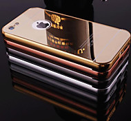 New Plating Mirror Back with Metal Frame Phone Case for iPhone 5C(Assorted Colors)