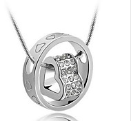 cheap -Men's Women's Heart Sterling Silver Pendant Necklace  -  Bridal Fashion Silver Necklace For Wedding Gift Daily