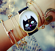 Damen Modeuhr Armband-Uhr Quartz Chronograph PU Band Schwarz Weiß Grün Rosa Beige