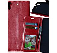 Недорогие -роскошный кожаный PU держателя карты бумажник стоят откидную крышку с фото рамка для случая HTC Desire 626 (ассорти цветов)