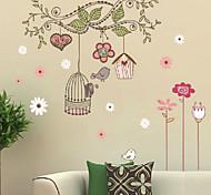 Рождество Цветы Праздник Пейзаж Наклейки 3D наклейки Декоративные наклейки на стены,Винил Украшение дома Наклейка на стену For Стена