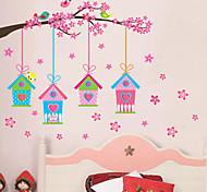 Недорогие -Пейзаж Рождество Цветы Праздник Наклейки Простые наклейки Декоративные наклейки на стены Фото наклейки, Винил Украшение дома Наклейка на