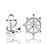Lureme®  Korean Fashion 925  Sterling Silver Sailor  Earrings