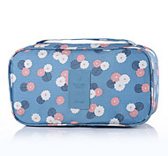 cheap -Travel Toiletry Bag Travel Luggage Organizer / Packing Organizer Portable Travel Storage for Clothes Bras Nylon / Floral