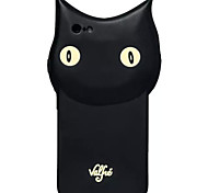 Star Newest Cute Cartoon Animal Black Cat Soft Silicone Case for iPhone 6/6S