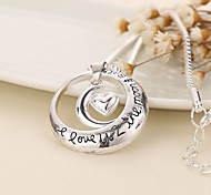 Ожерелье Ожерелья с подвесками Бижутерия Повседневные В форме сердца Сердце Медь 1шт Подарок