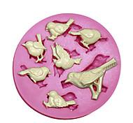 New 7 Cavity Cute Bird Silicone Fondant Cake Chocolate Mould Kitchen Baking Tool