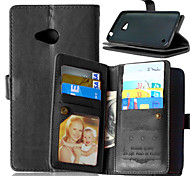 For Nokia Case Wallet / Card Holder / with Stand Case Full Body Case Solid Color Hard PU Leather Nokia Nokia Lumia 930 / Nokia Lumia 640