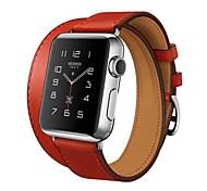 Часовая группа для яблочных часов 38 мм 42 мм кожаная замена стальной браслет двойной тур