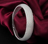Недорогие -Жен. Браслет цельное кольцо Стерлинговое серебро Бижутерия Свадьба Для вечеринок Повседневные