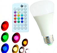 E26/E27 LED Kugelbirnen A60(A19) 18 Leds SMD 5730 Abblendbar Ferngesteuert Dekorativ Warmes Weiß Kühles Weiß Natürliches Weiß RGB 800lm