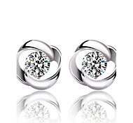 cheap -Women's Stud Earrings Fashion Sterling Silver Crystal Silver Jewelry Wedding Party Daily Costume Jewelry