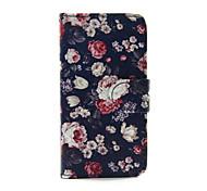 Недорогие -красочных роз пу кожаный бумажник дело всего тела для Ipod Touch 5/6