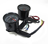 cheap -Universal Motorcycle Tachometer Odometer Speedometer Gauge LED Indicator with Bracket