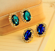 cheap -Women's Fashion New Fashion Gorgeous Gem Rhinestone Stud Earrings