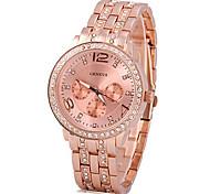 Недорогие -Женские Нарядные часы Кварцевый сплав Группа Блестящие Серебристый металл Золотистый марка
