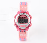 Kids' Sport Watch Fashion Watch Digital Watch Digital Water Resistant / Water Proof Fabric Band Pink