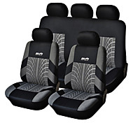 cheap -5 Seats Universal Car Seat Cover Black/Gray Textile Material Vehicle Seat Coler (9 pcs per kit)