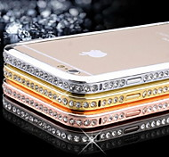 Diamand Inlay Alloy Bumper Frame for iPhone 6s 6 Plus