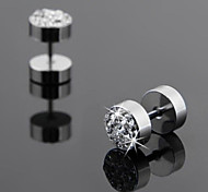 Men's Stud Earrings Costume Jewelry Rhinestone Titanium Steel Jewelry For Wedding Party Daily