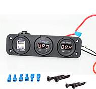 Iztoss 12v marine Cigarette USB Port and voltage current socket for car SUV, Rv, Caravan