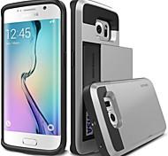 Недорогие -Для Кейс для  Samsung Galaxy Бумажник для карт Кейс для Задняя крышка Кейс для Армированный PC Samsung S6 edge plus / S6 edge / S6