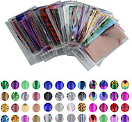 cheap -50 Colour 35cm*4cm Mix Color Transfer Foil Nail Art Star Decal Care DIY  Nail Art