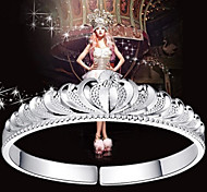 9999 Pure Stering Silver Crown Bangle Bracelet Christmas Gifts