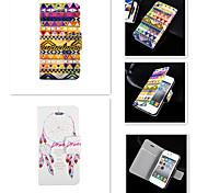 casebox® Ловец снов Геометрический дизайн PU кожа полный случай орган по iPhone 4 / 4s