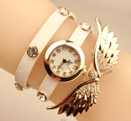 Ms. New Angel Wings Diamond Bracelet Watch PU Cruising Cool Watches Unique Watches