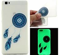 Blue Bells Luminous Dream Catcher Pattern Sofe TPU Case for Huawei P8 Lite